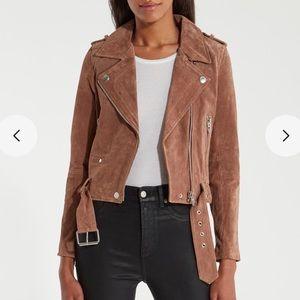 Free People Blank NYC Suede Moto Jacket sz medium